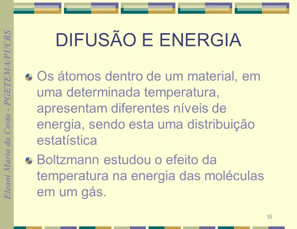 DIFUSÃO E ENERGIA