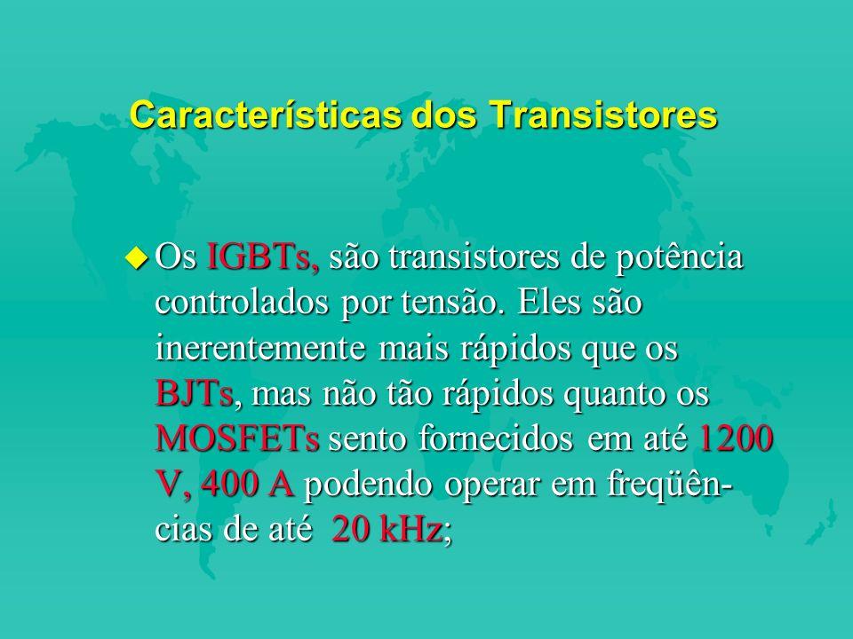 Características dos Transistores