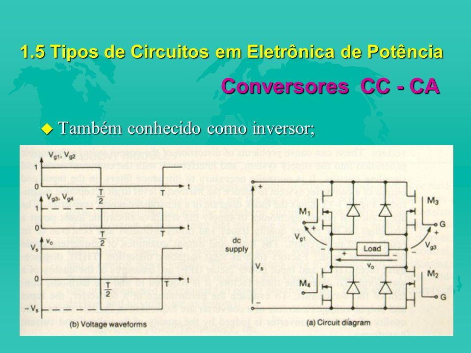 1.5 Tipos de Circuitos em Eletrônica de Potência
