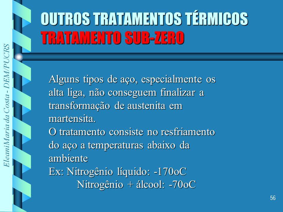 OUTROS TRATAMENTOS TÉRMICOS TRATAMENTO SUB-ZERO