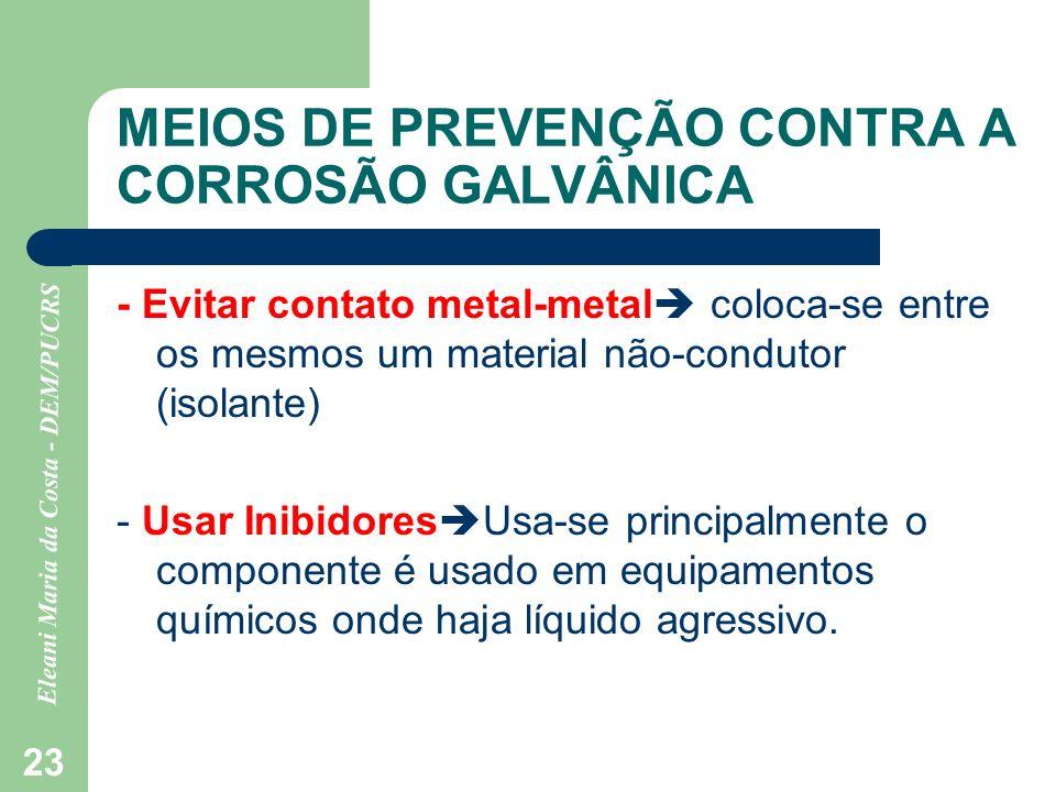 MEIOS DE PREVENÇÃO CONTRA A CORROSÃO GALVÂNICA