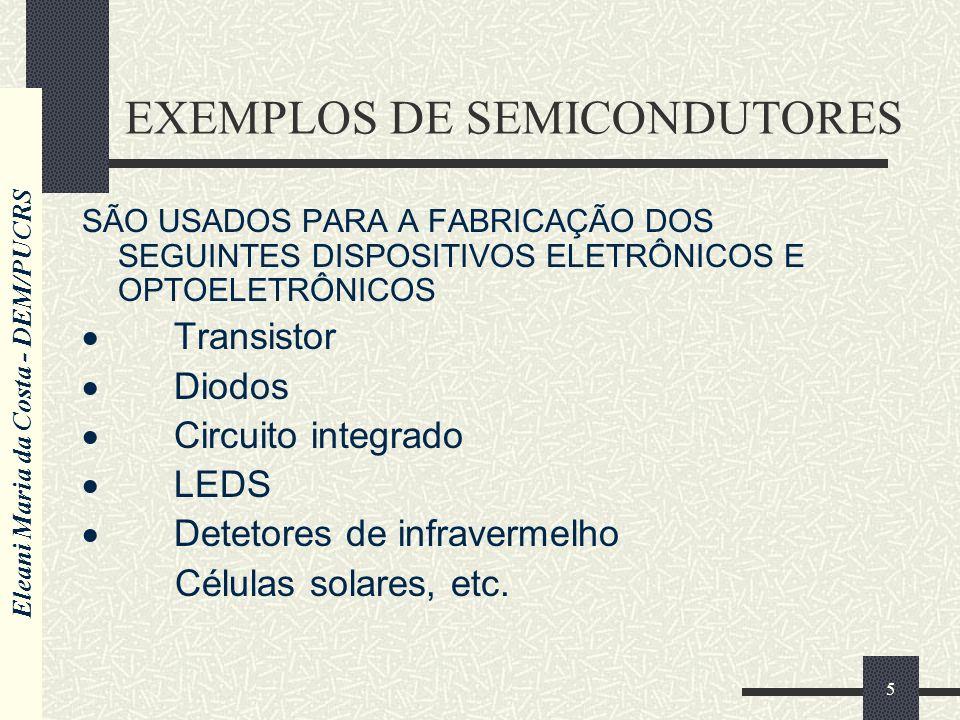EXEMPLOS DE SEMICONDUTORES