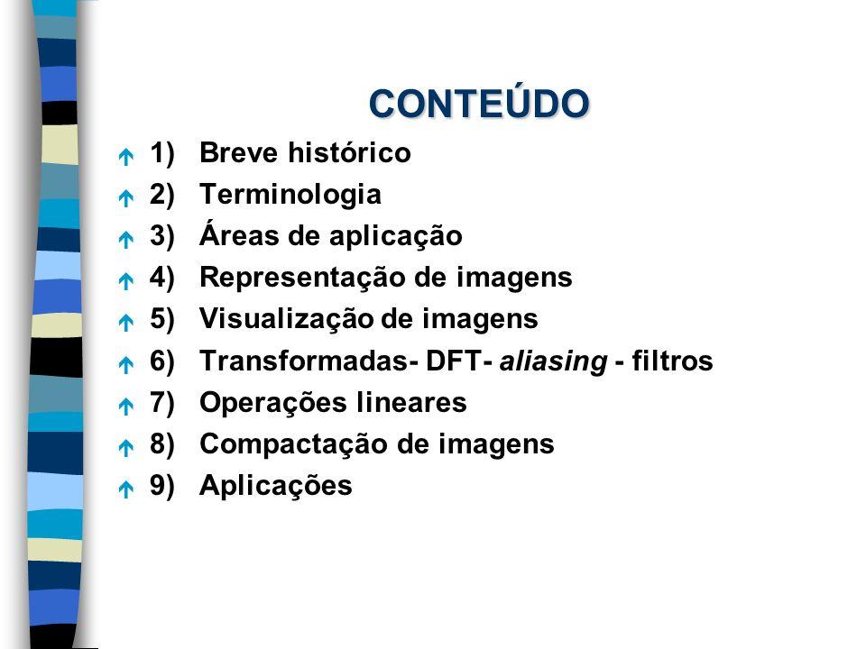 CONTEÚDO 1) Breve histórico 2) Terminologia 3) Áreas de aplicação