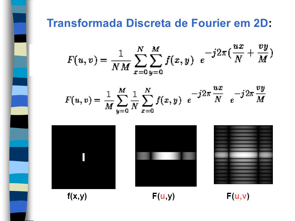 Transformada Discreta de Fourier em 2D: