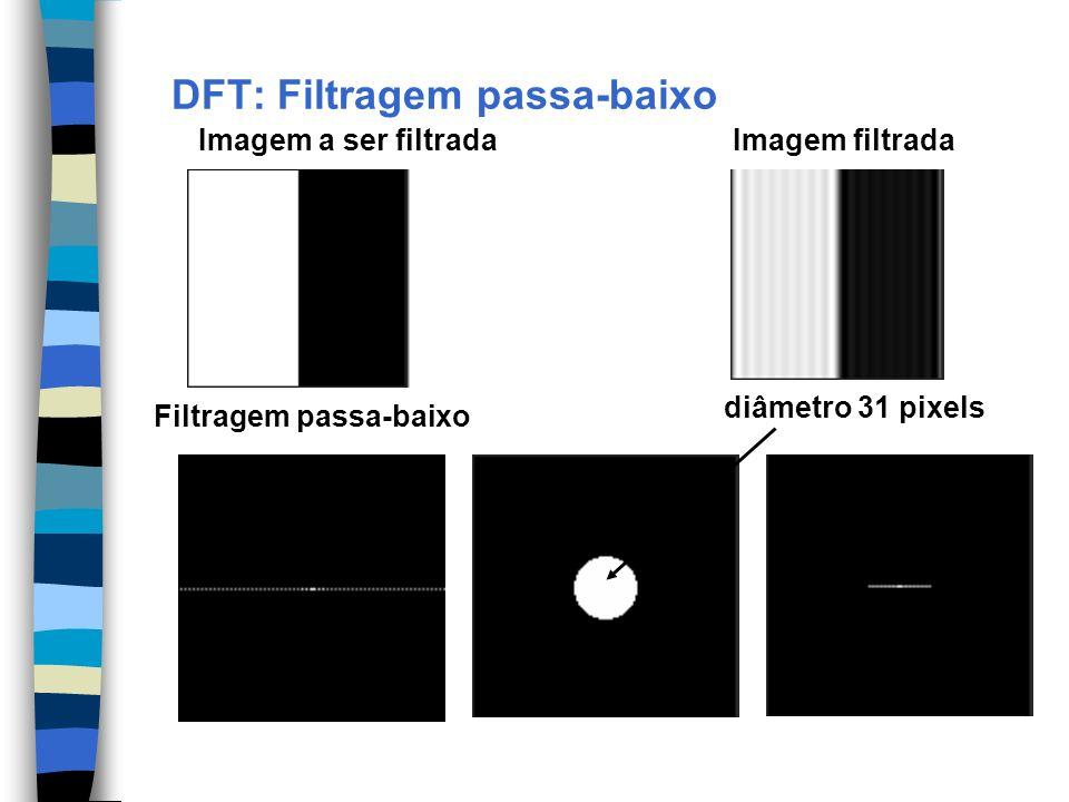 DFT: Filtragem passa-baixo