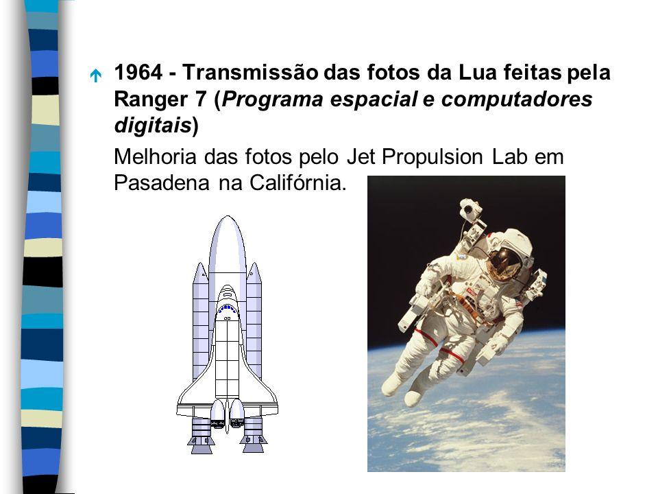 1964 - Transmissão das fotos da Lua feitas pela Ranger 7 (Programa espacial e computadores digitais)