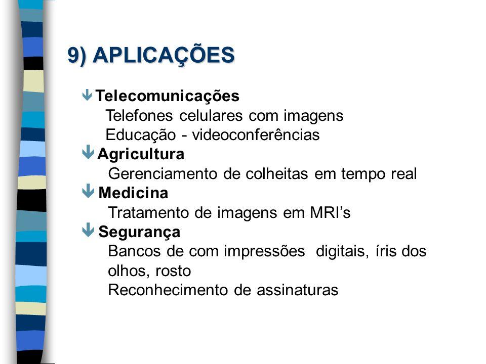 9) APLICAÇÕES Telefones celulares com imagens