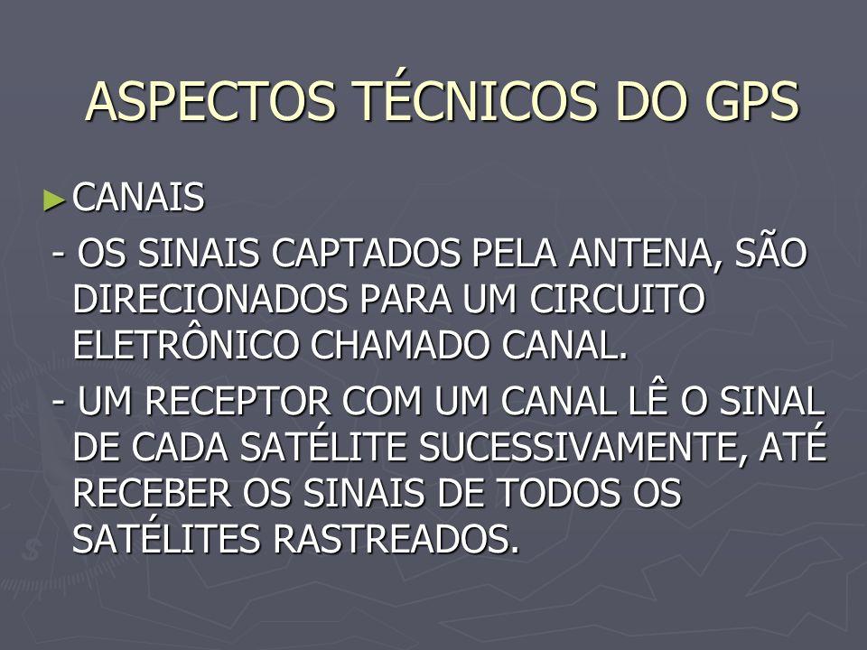 ASPECTOS TÉCNICOS DO GPS
