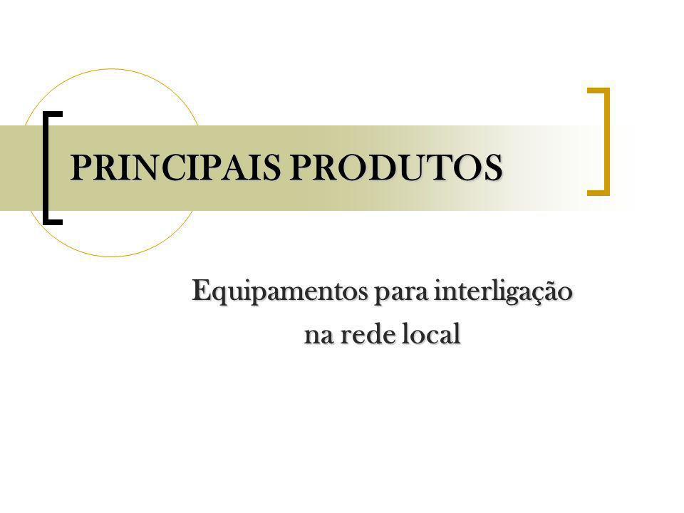 Equipamentos para interligação na rede local