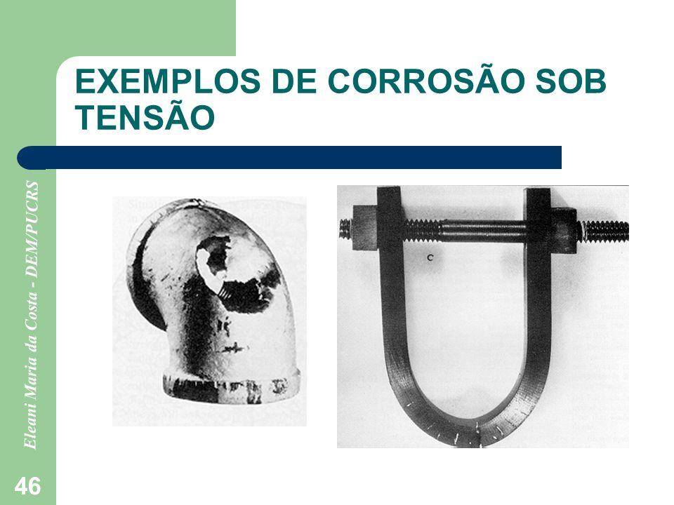 EXEMPLOS DE CORROSÃO SOB TENSÃO