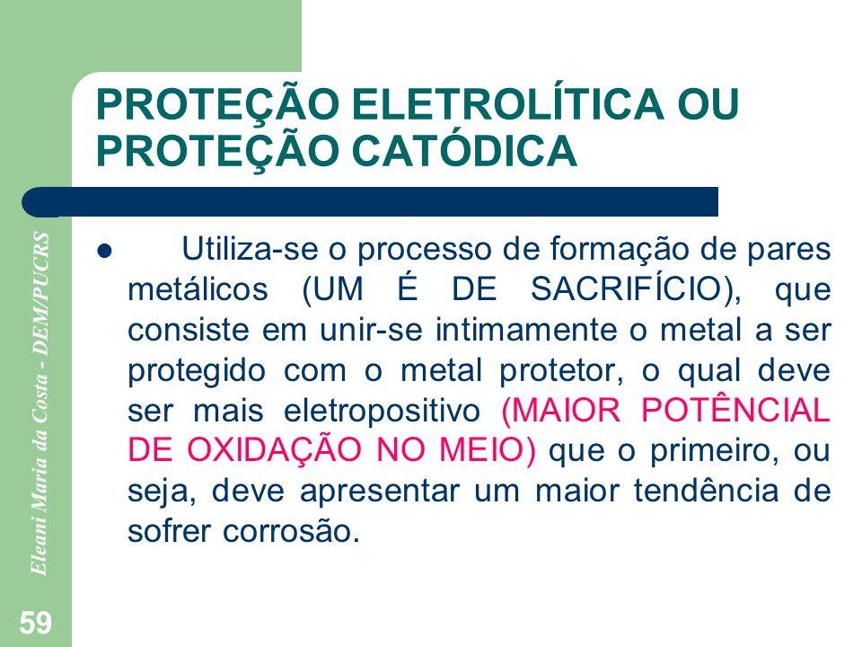 PROTEÇÃO ELETROLÍTICA OU PROTEÇÃO CATÓDICA