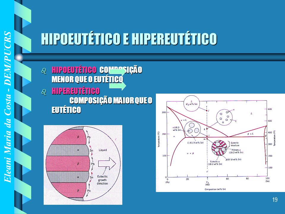 HIPOEUTÉTICO E HIPEREUTÉTICO
