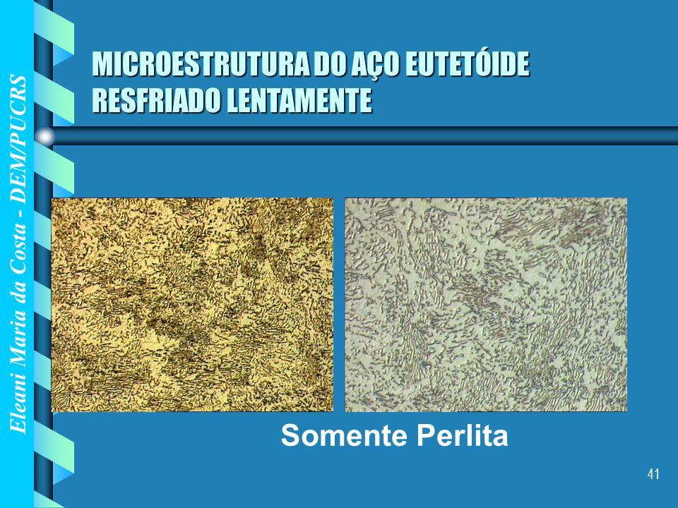 MICROESTRUTURA DO AÇO EUTETÓIDE RESFRIADO LENTAMENTE