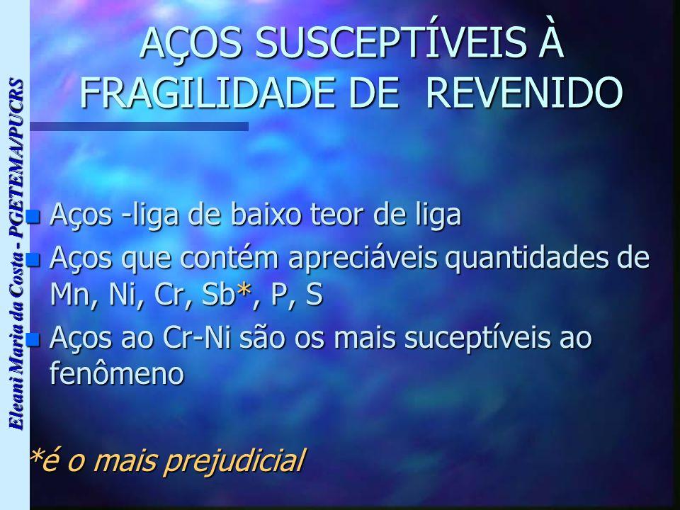 AÇOS SUSCEPTÍVEIS À FRAGILIDADE DE REVENIDO