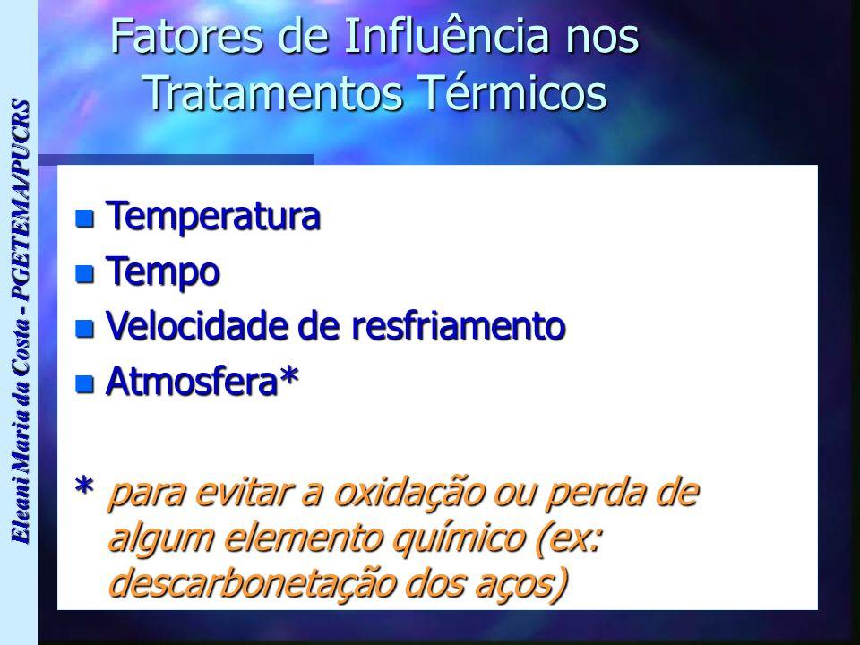 Fatores de Influência nos Tratamentos Térmicos