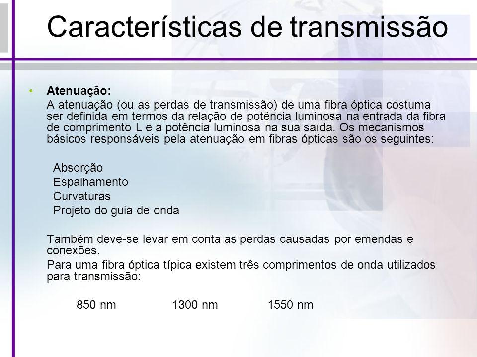 Características de transmissão