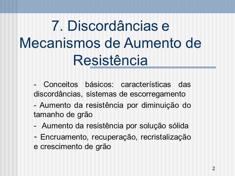 7. Discordâncias e Mecanismos de Aumento de Resistência