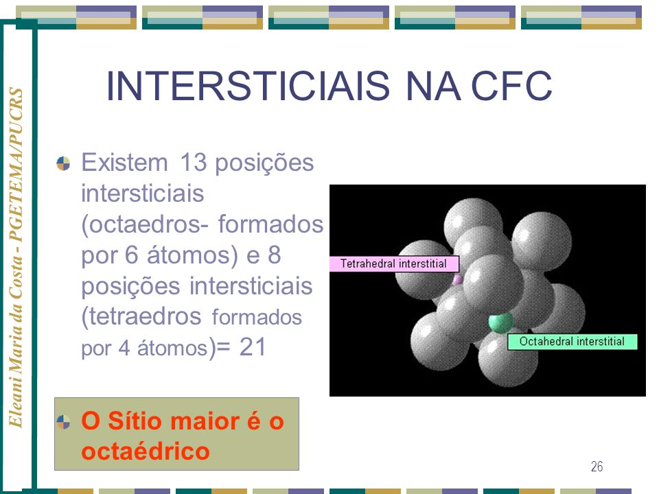 INTERSTICIAIS NA CFC