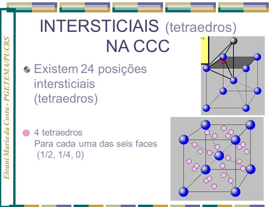 INTERSTICIAIS (tetraedros)