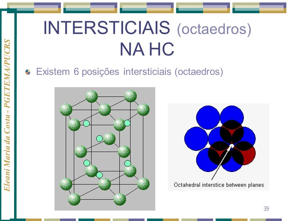 INTERSTICIAIS (octaedros)