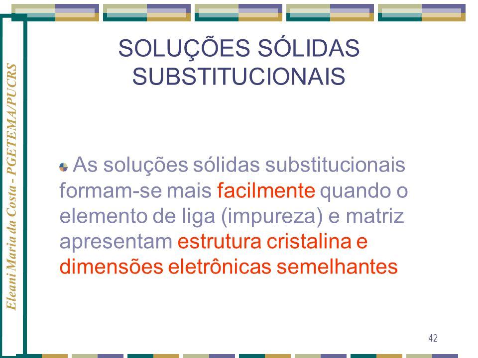 SOLUÇÕES SÓLIDAS SUBSTITUCIONAIS