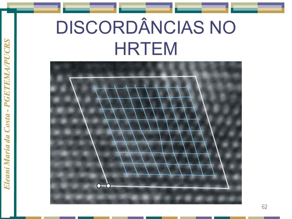 DISCORDÂNCIAS NO HRTEM