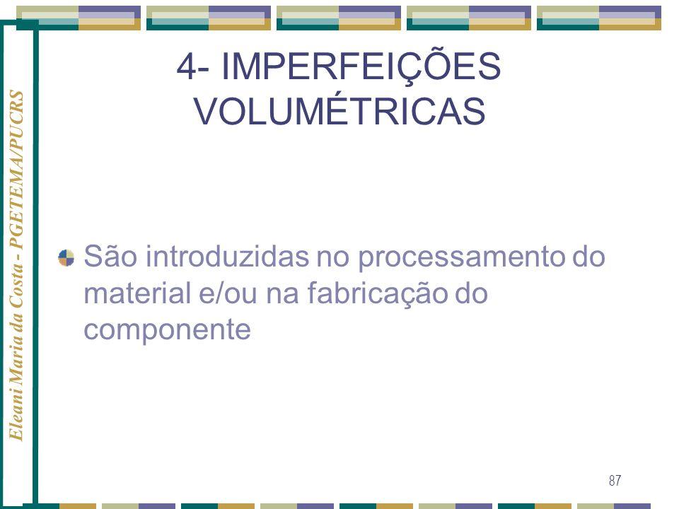 4- IMPERFEIÇÕES VOLUMÉTRICAS