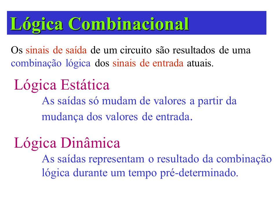 Lógica Combinacional Lógica Estática Lógica Dinâmica