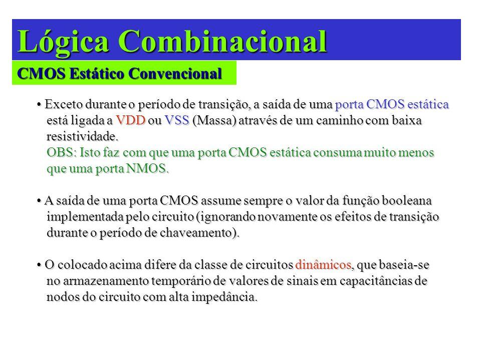 Lógica Combinacional CMOS Estático Convencional