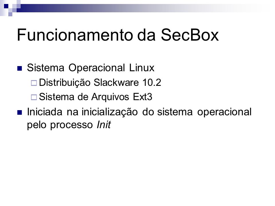 Funcionamento da SecBox