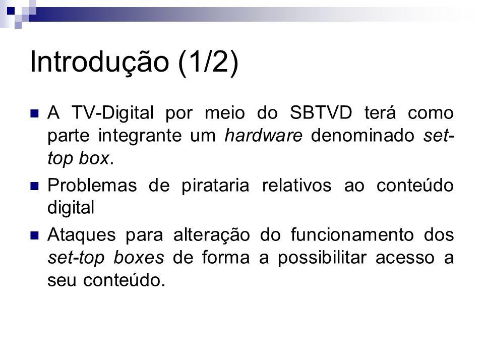 Introdução (1/2) A TV-Digital por meio do SBTVD terá como parte integrante um hardware denominado set-top box.