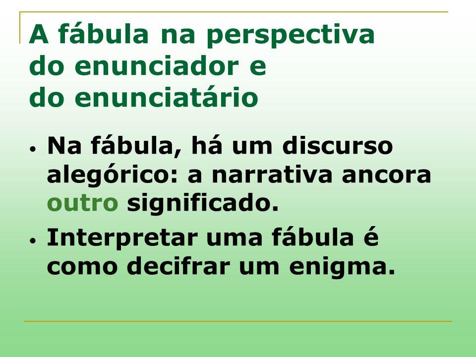A fábula na perspectiva do enunciador e do enunciatário