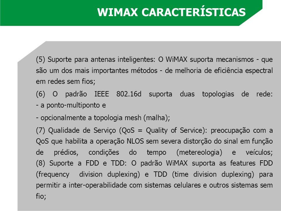 WIMAX CARACTERÍSTICAS