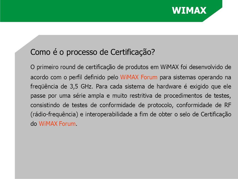 WIMAX Como é o processo de Certificação