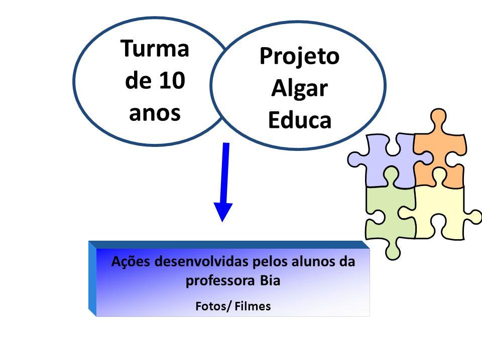 Ações desenvolvidas pelos alunos da professora Bia