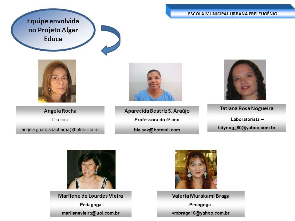 Equipe envolvida no Projeto Algar Educa