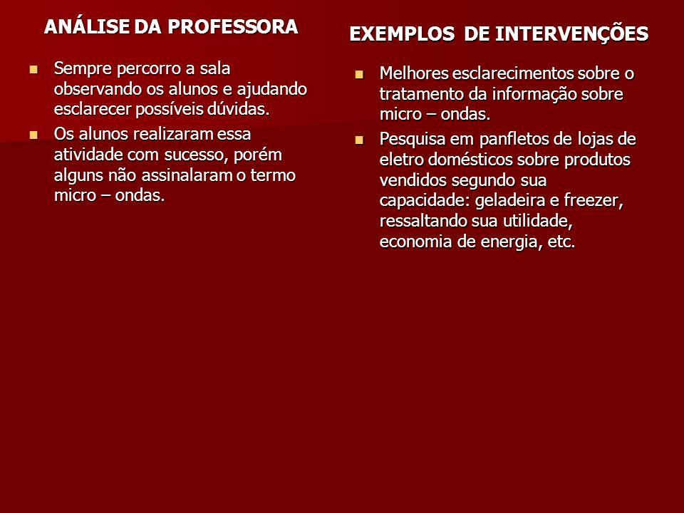 EXEMPLOS DE INTERVENÇÕES