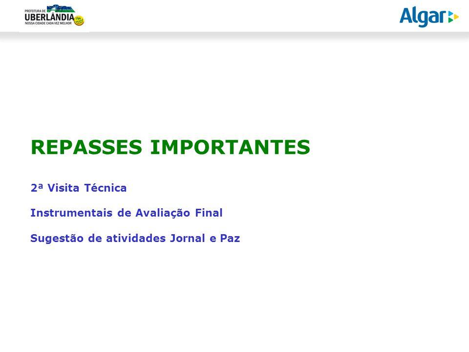 REPASSES IMPORTANTES 2ª Visita Técnica