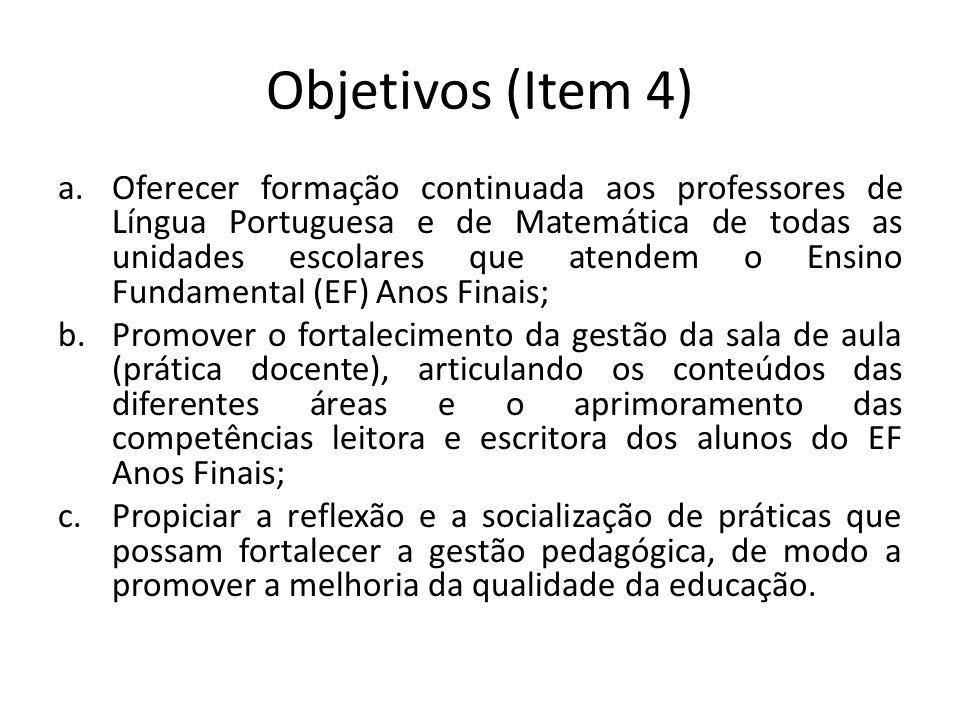 Objetivos (Item 4)