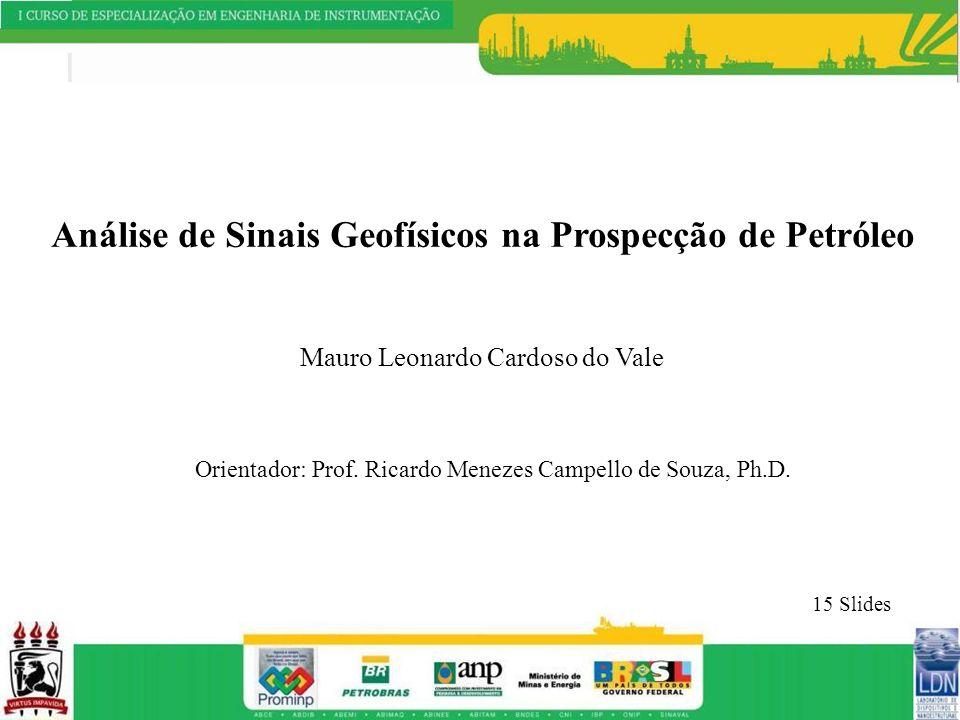 Análise de Sinais Geofísicos na Prospecção de Petróleo