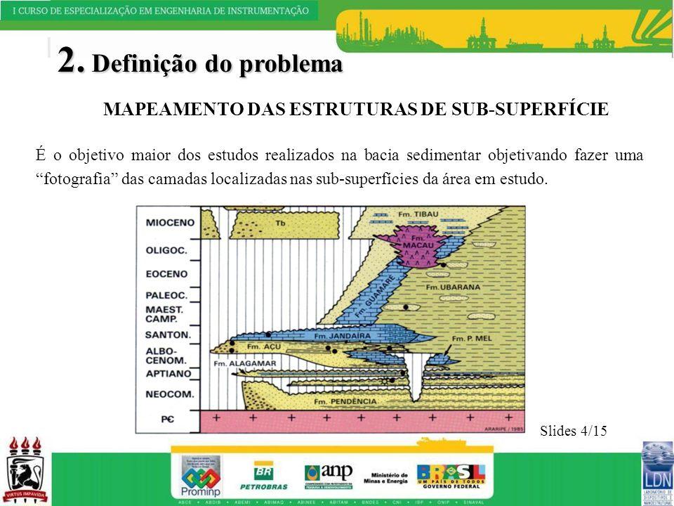 2. Definição do problema MAPEAMENTO DAS ESTRUTURAS DE SUB-SUPERFÍCIE