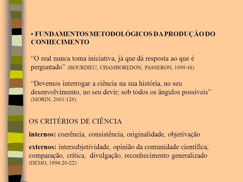 OS CRITÉRIOS DE CIÊNCIA