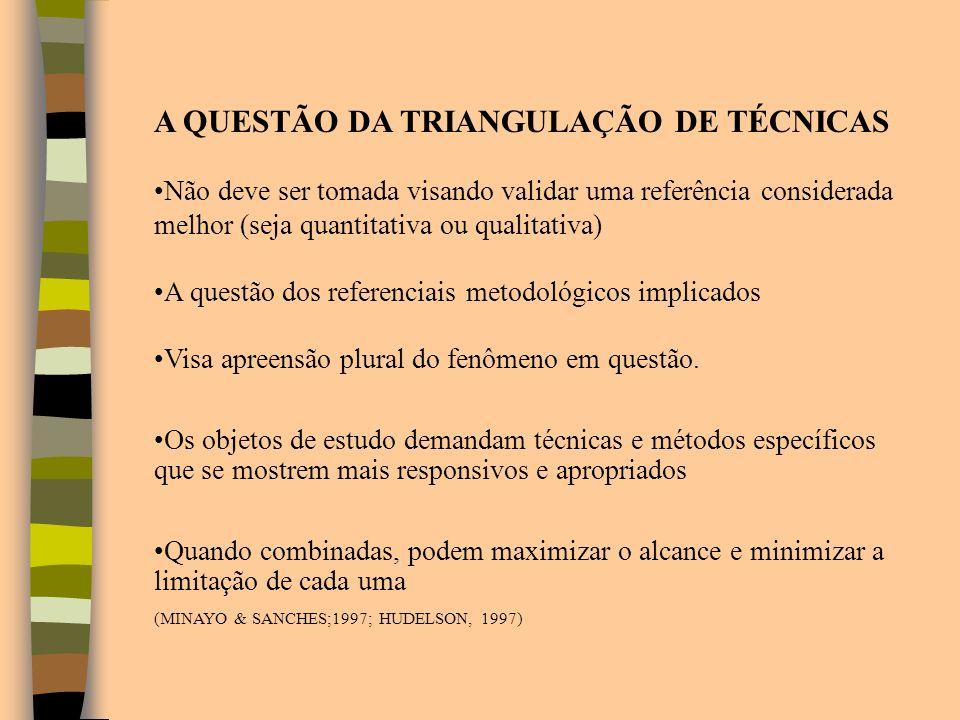 A QUESTÃO DA TRIANGULAÇÃO DE TÉCNICAS