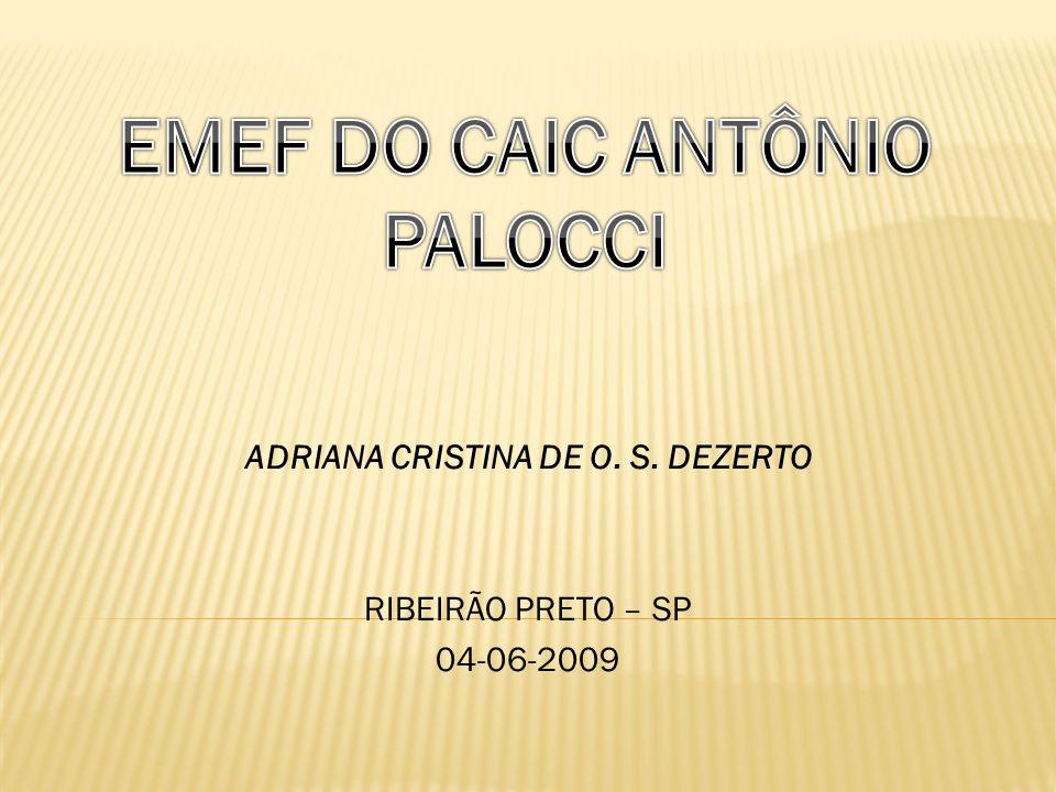 ADRIANA CRISTINA DE O. S. DEZERTO RIBEIRÃO PRETO – SP 04-06-2009