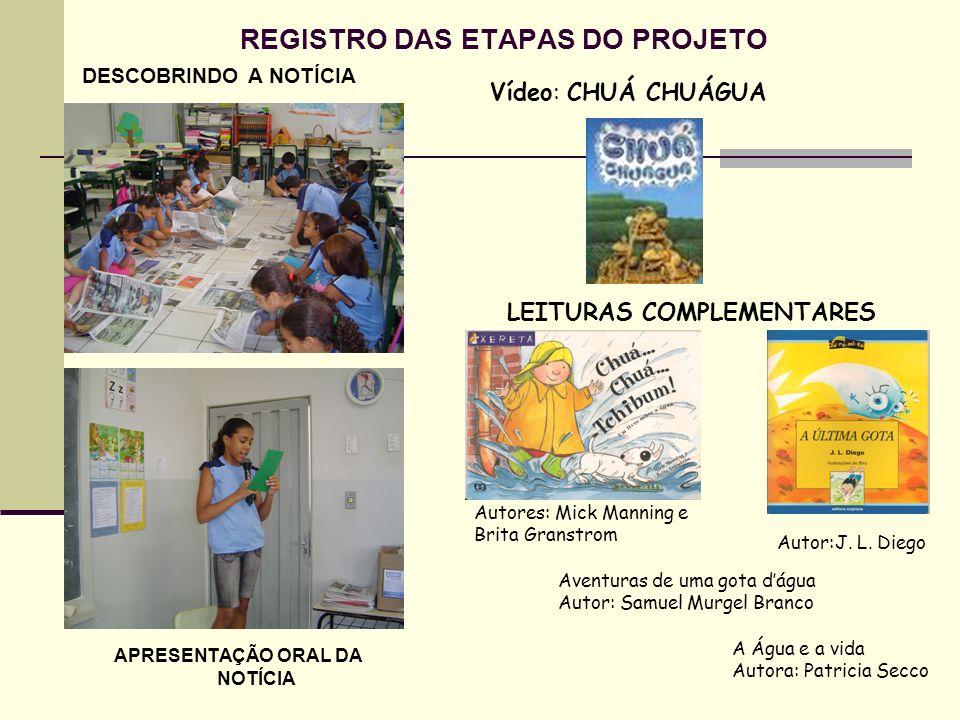 REGISTRO DAS ETAPAS DO PROJETO