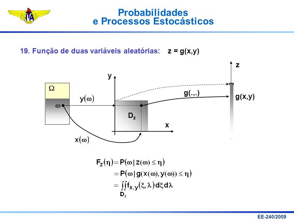 19. Função de duas variáveis aleatórias: