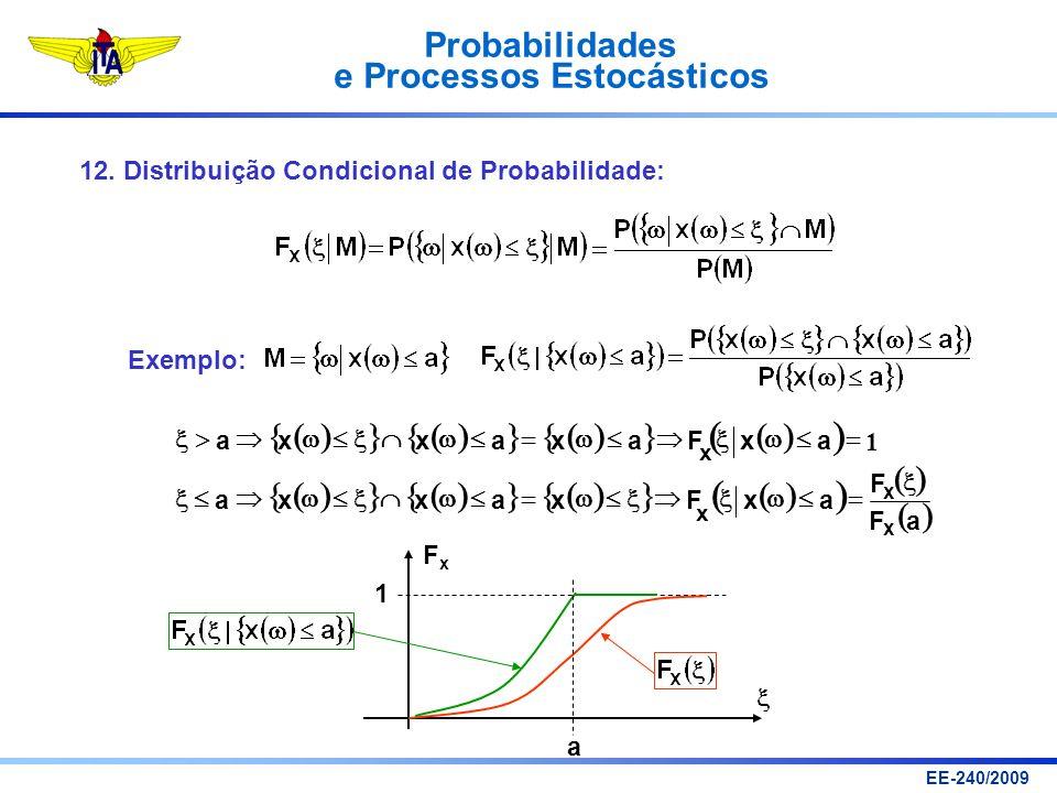 ( ) { } 12. Distribuição Condicional de Probabilidade: Exemplo: a F x