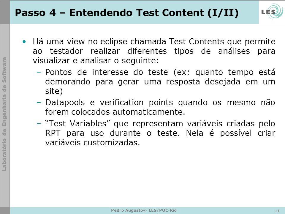 Passo 4 – Entendendo Test Content (I/II)