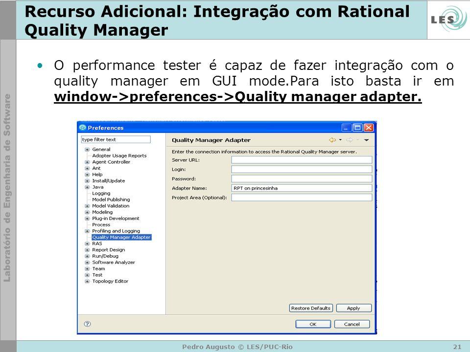 Recurso Adicional: Integração com Rational Quality Manager