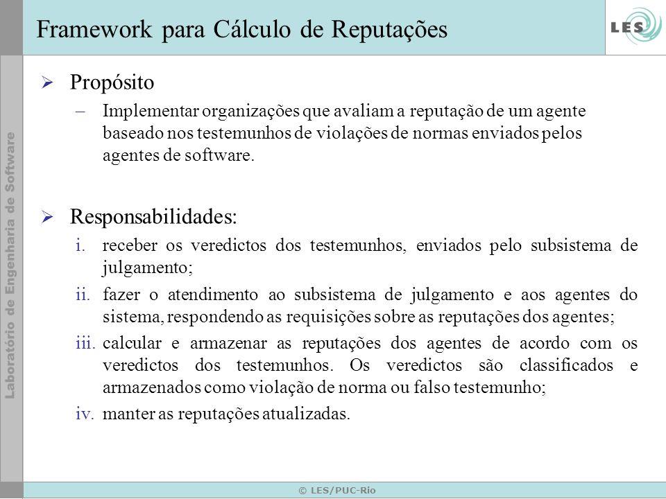 Framework para Cálculo de Reputações